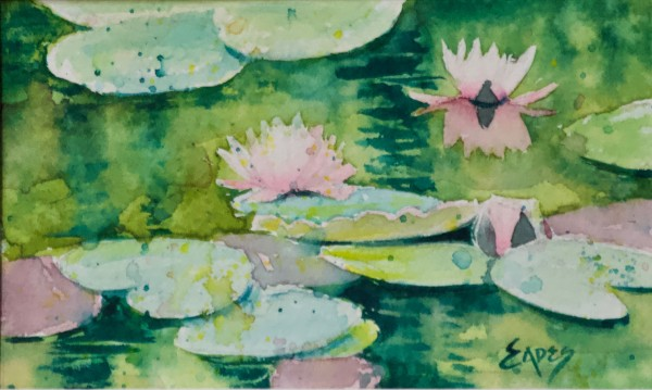 Watercolor Waterlilies WC by Linda Eades Blackburn