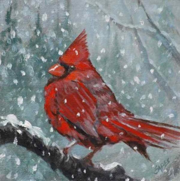 Winter Cardinal by Linda Eades Blackburn