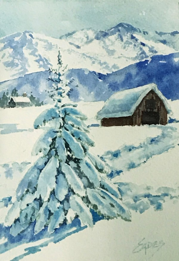 Winter Snow WC by Linda Eades Blackburn