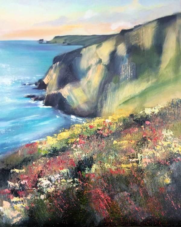 Porthtowan Clifftops by Rachel Painter