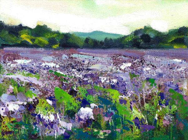 Sea of Purple - Marazion, Cornwall by Rachel Painter