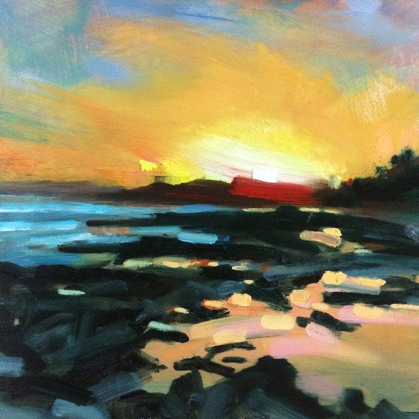 Gylly Sunset - Gylly Beach, Falmouth by Rachel Painter