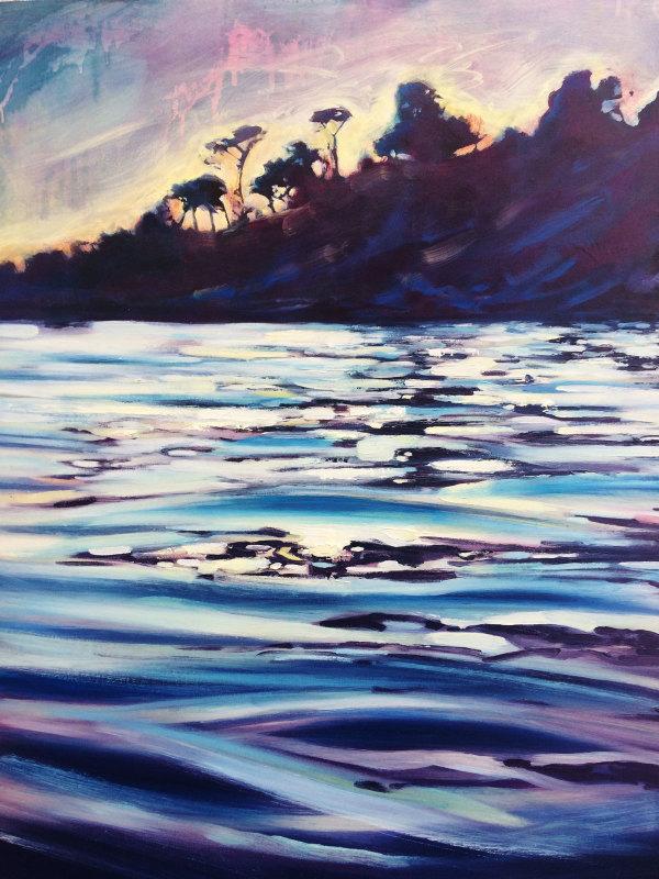 Night Swim - Durgan Beach, Cornwall by Rachel Painter