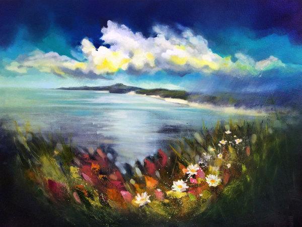 Scatter The Seeds Of Your Dreams Like Wildflowers - Gunwalloe, Cornwall by Rachel Painter
