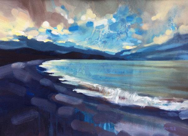 The Dawn From Upon High - Porlock Bay, Exmoor by Rachel Painter