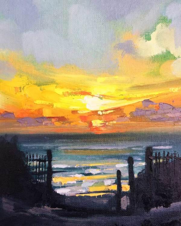 The Water & The Horizon No.1 by Rachel Painter