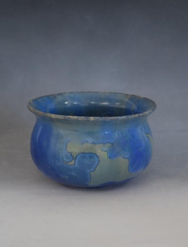 Mini Blue Pot by Nichole Vikdal