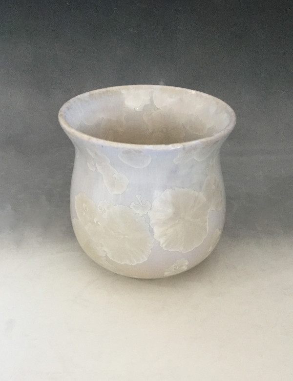 Small White Pot by Nichole Vikdal