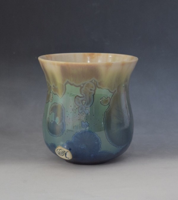 Green and Blue Pot by Nichole Vikdal