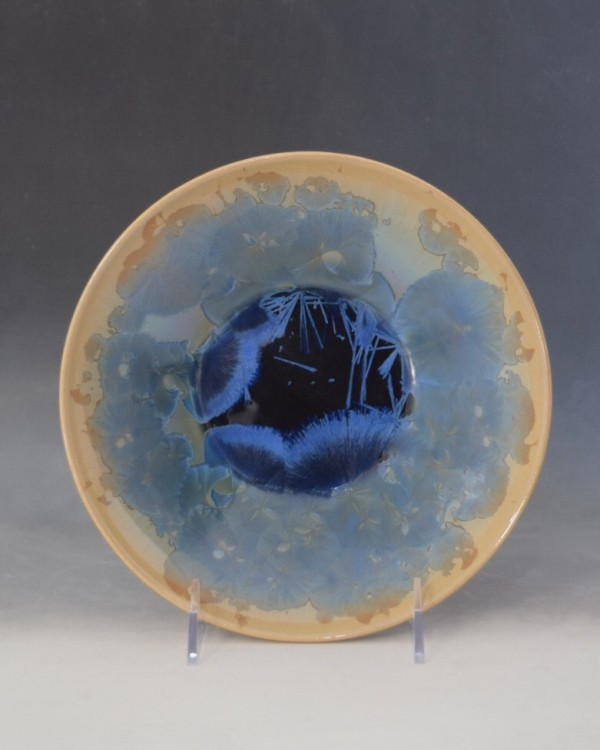 Turquoise and Brown Bowl by Nichole Vikdal