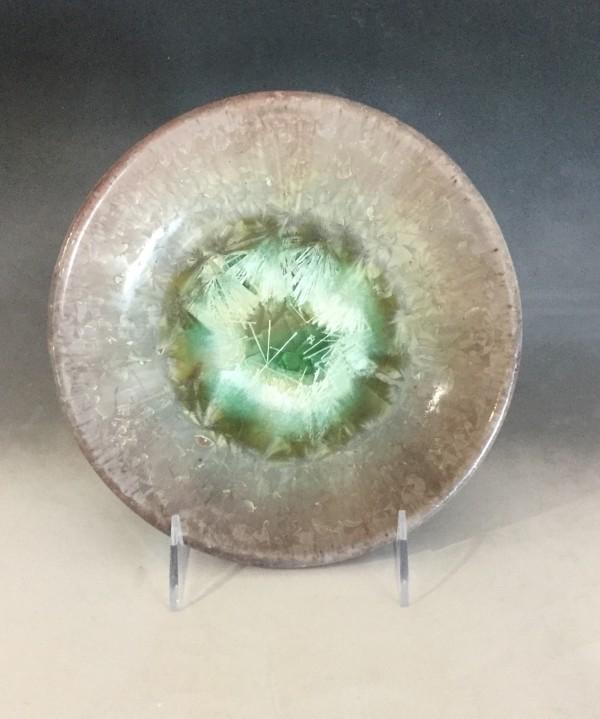 Mauve crystal plate by Nichole Vikdal
