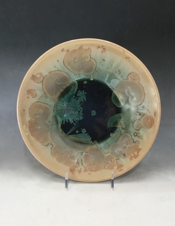 Medium Green w/brown plate by Nichole Vikdal