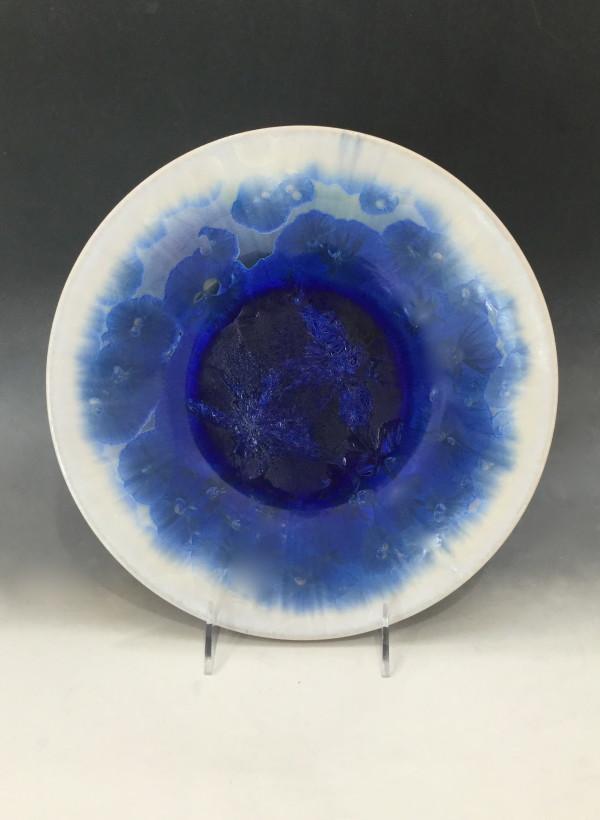 Large Cobalt w/white Bowl by Nichole Vikdal