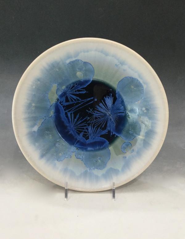 Medium Turquoise w/white bowl by Nichole Vikdal