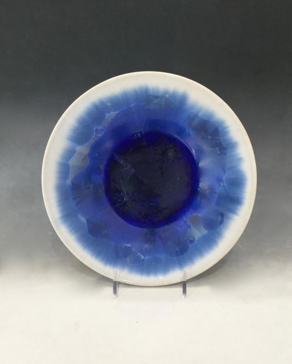 Medium Blue w/white Plate by Nichole Vikdal