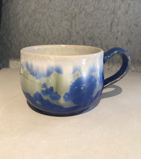 Blue and White Mug by Nichole Vikdal