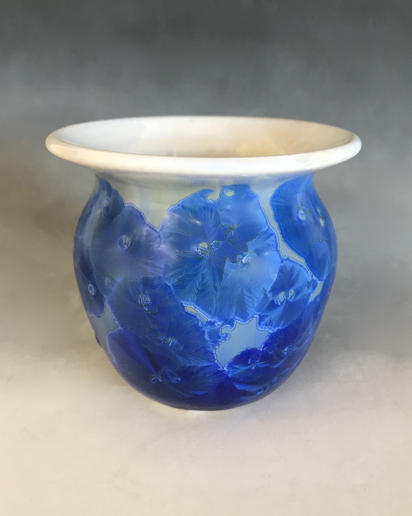 Small Blue and White Pot by Nichole Vikdal