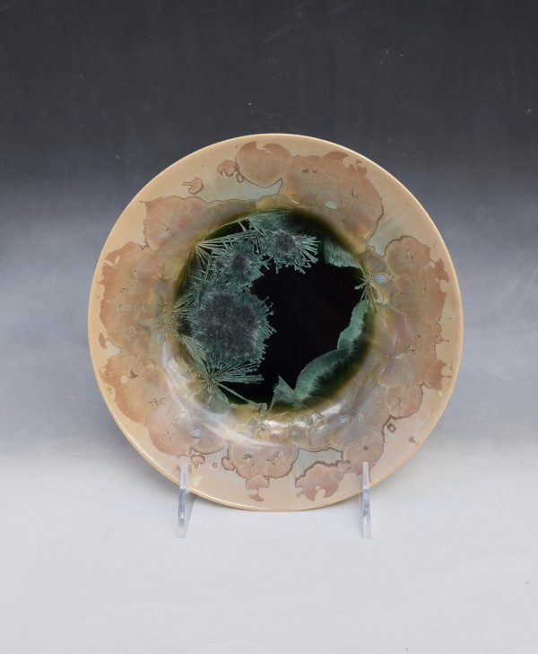 Green and Brown Bowl by Nichole Vikdal