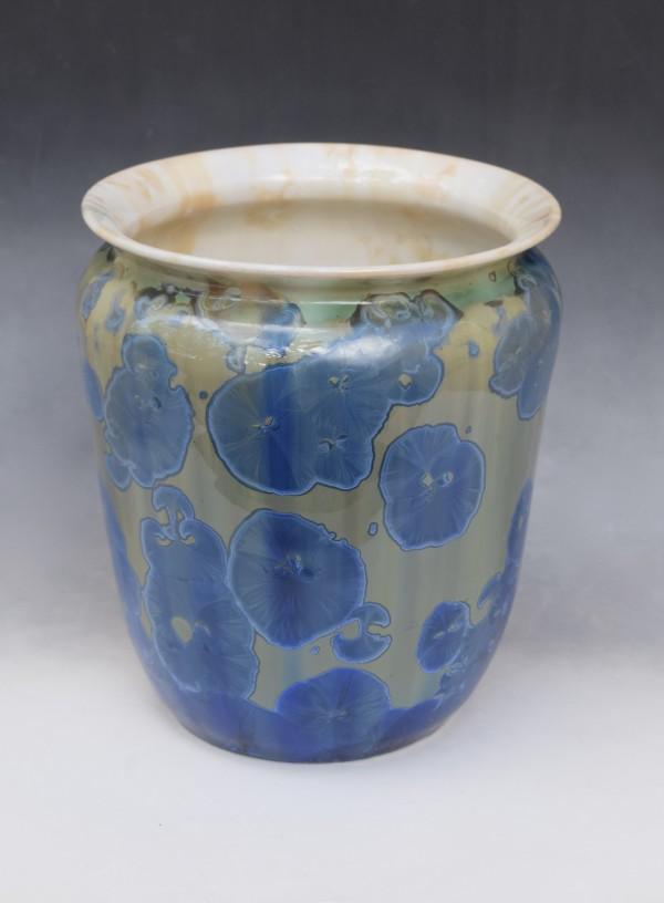 Large Blue Pot by Nichole Vikdal