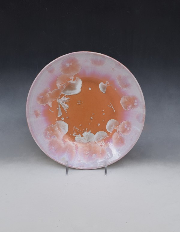 Small Orange Plate by Nichole Vikdal