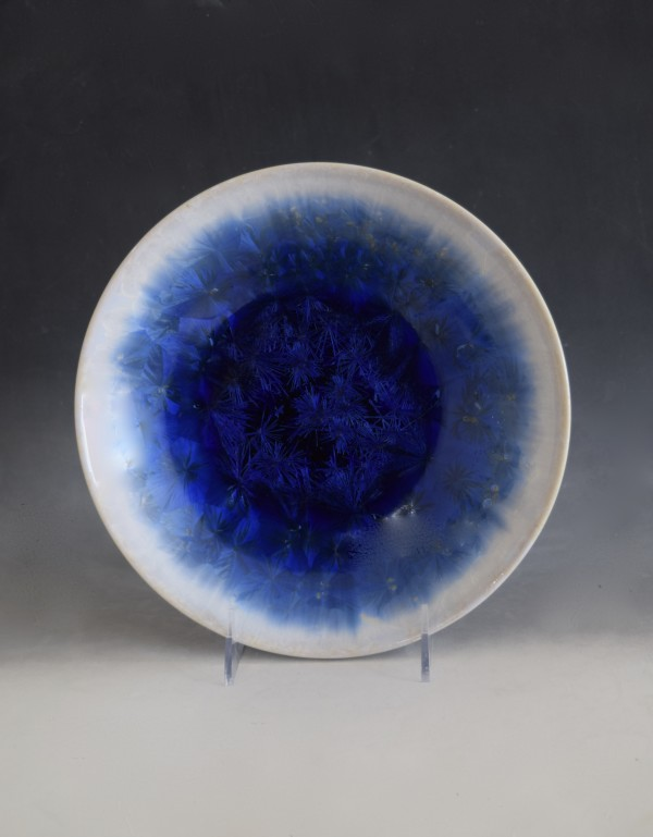 Blue with white Bowl by Nichole Vikdal