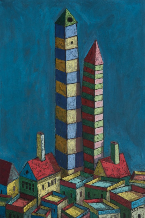 Twin Towers by John F. Marok