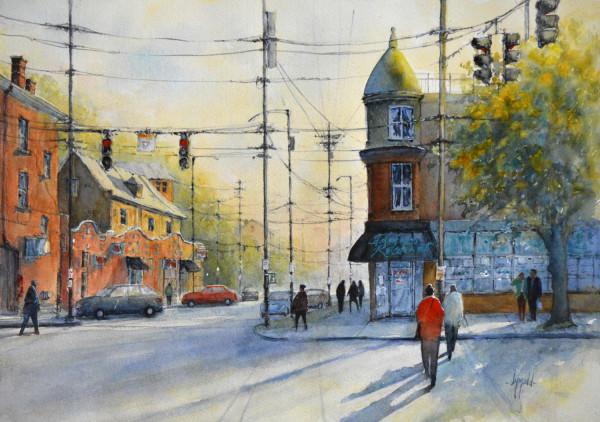 Corner Café by Judy Mudd