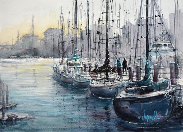 Marina Morning by Judy Mudd
