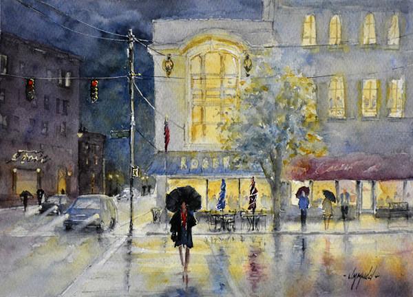 Rain on Madison by Judy Mudd