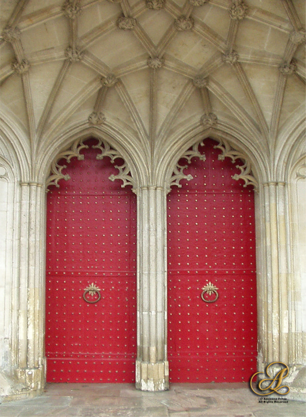 Backdoors of Winchester Cathedral by Adrienne Fritze