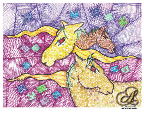 Horses Quilt by Adrienne Fritze