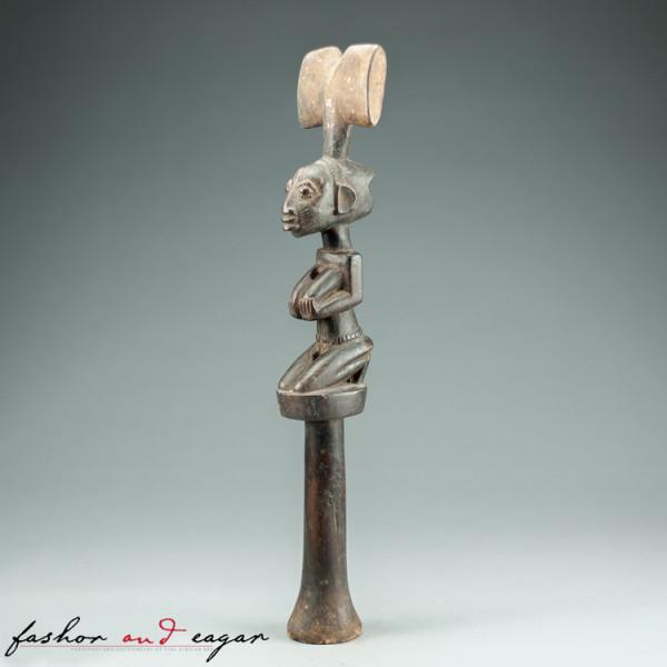 Shango dance wand, or oshe Shango by Yoruba