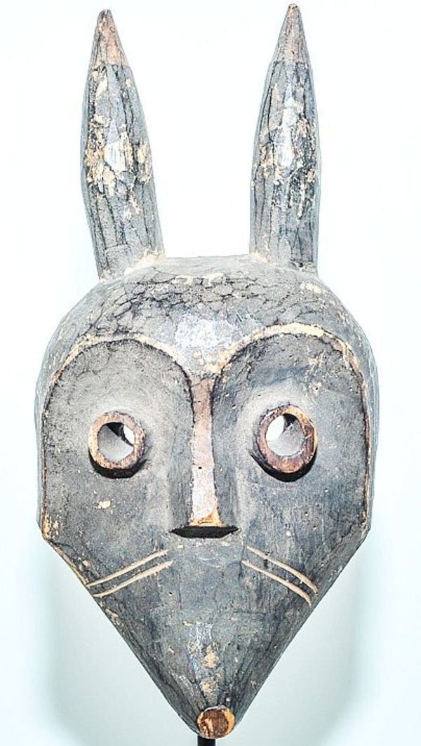 """Giphogo"""" Horned mask, Pende, D.R.C.    9.5 inches by Pende DRC"""