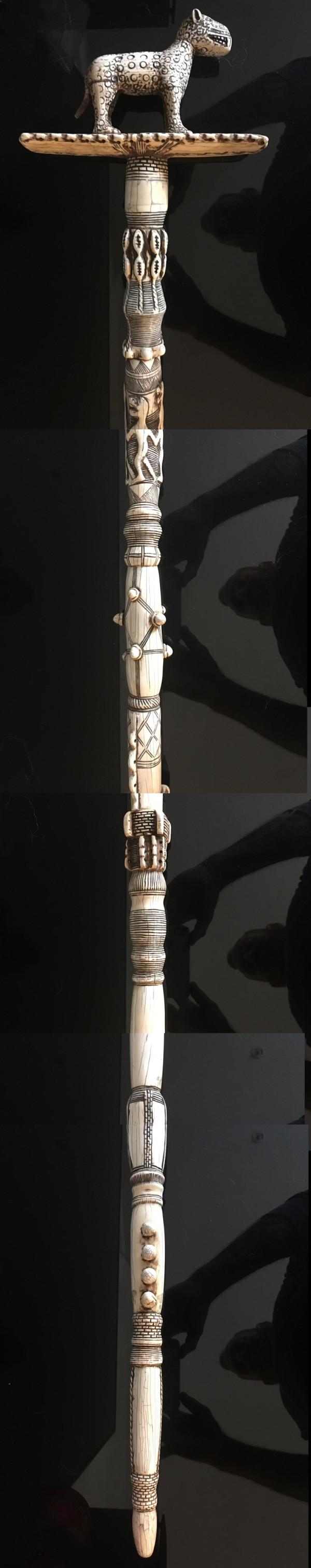 A Superb Benin Ivory Staff by Benin Kingdom Nigeria