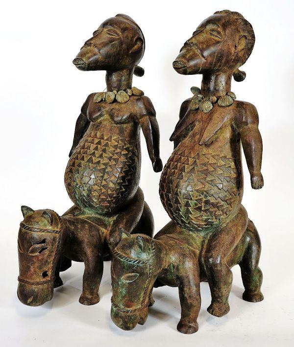 KAHUGU BRONZE EQUESTRIAN COUPLE, KADUNA, NIGERIA