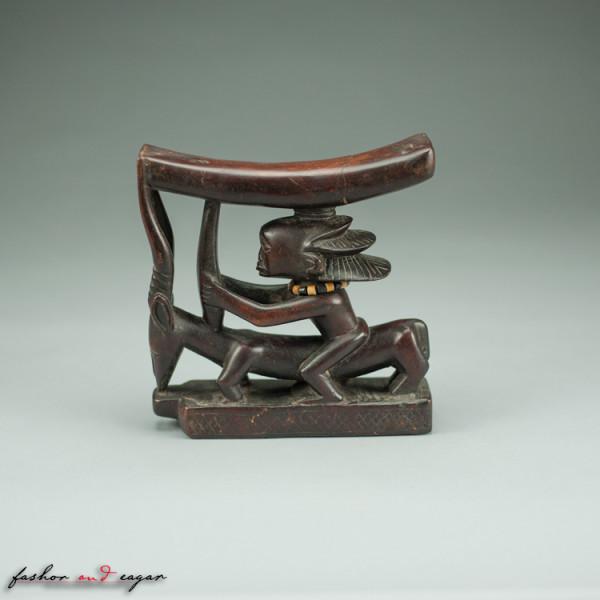 Prestige Headrest: Figure Riding an Antelope by Luba