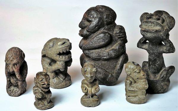 Nomoli figurines.  Medieval Sapi/Mende (Sierra Leone) stone sculptures