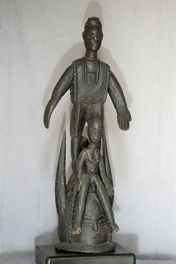"""Sowei"", Sande female society mask by Mende,  Sierra Leone, Liberia"