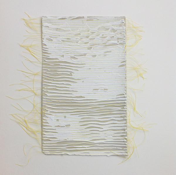Weave yellow on tan by Diana Gabriel