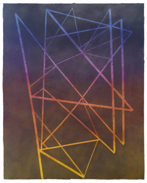 Murmuration Diagram (starlings in flight, twilight) by Holly Cahill