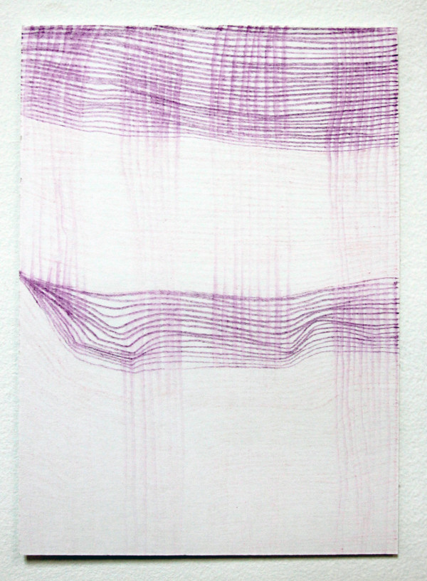 Weaving line (No. 1-4, each drawing unique) by Diana Gabriel