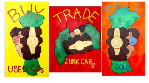Buy, Trade, Sell (Triptych) by Carris Adams