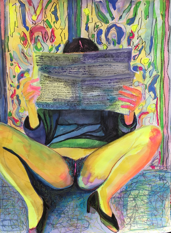 Sensualist 3 (the reader) by Amanda Joy Calobrisi
