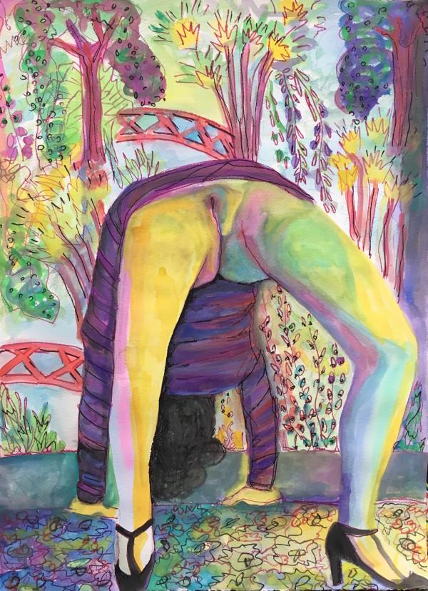 Sensualist 1 (back bend) by Amanda Joy Calobrisi