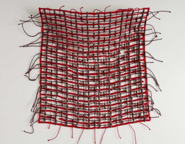Red and Grey Swatch by Diana Gabriel