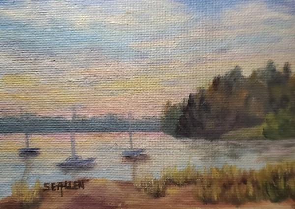 Sunset Over Massabessic by Sharon Allen