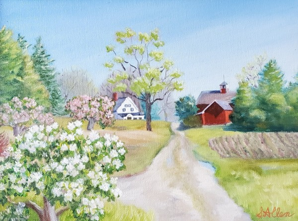 Road Through the Orchard by Sharon Allen