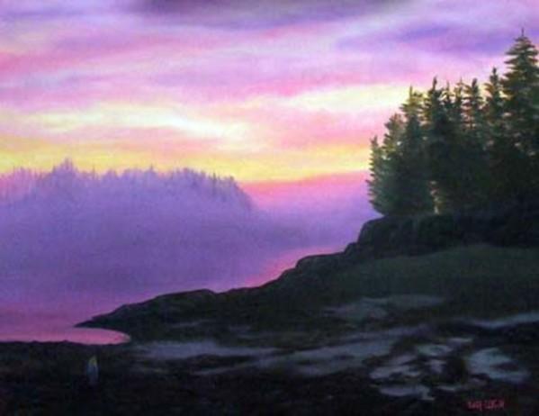 Mystical Sunset by Sharon Allen