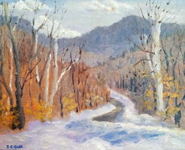 Winter View from 4th Iron by Sharon Allen