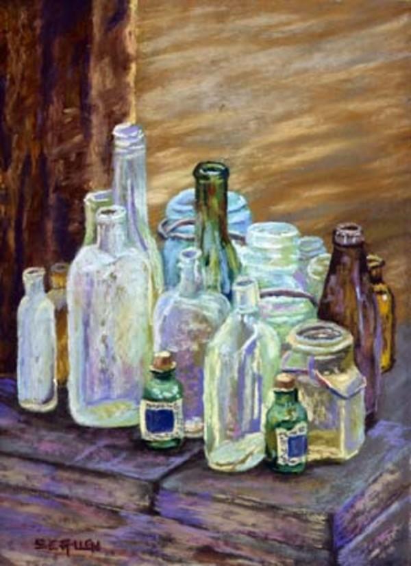 Old Bottles by Sharon Allen